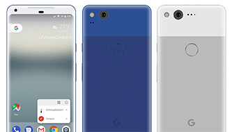 Google's next Pixels get envisioned in Really Blue, Very Silver