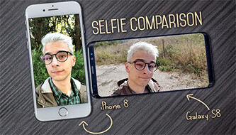 Selfie comparison: iPhone 8 vs Galaxy S8