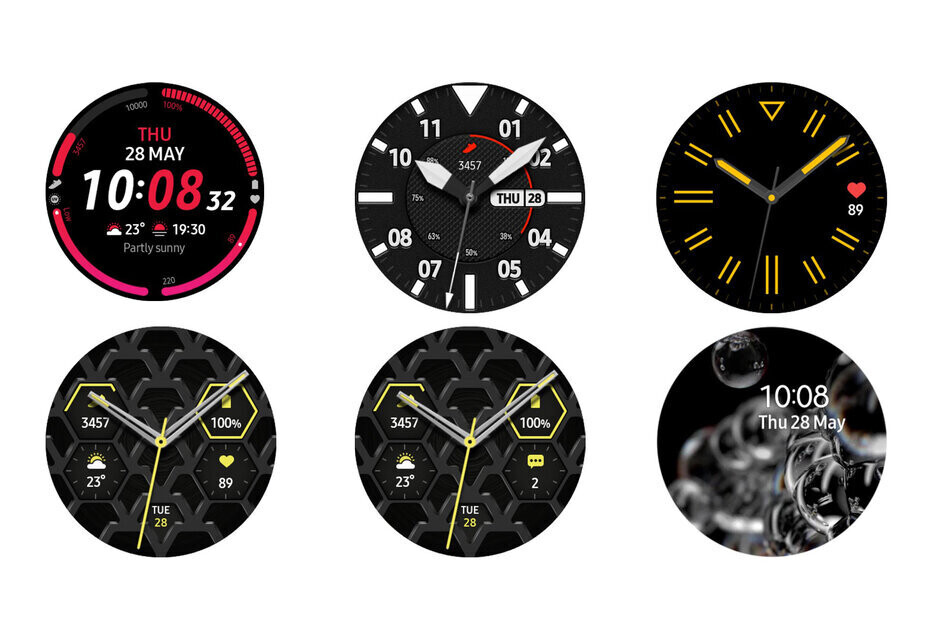 Some of the new watch faces