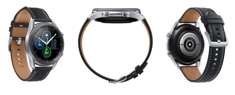 The Galaxy Watch 3 in Mystic Silver