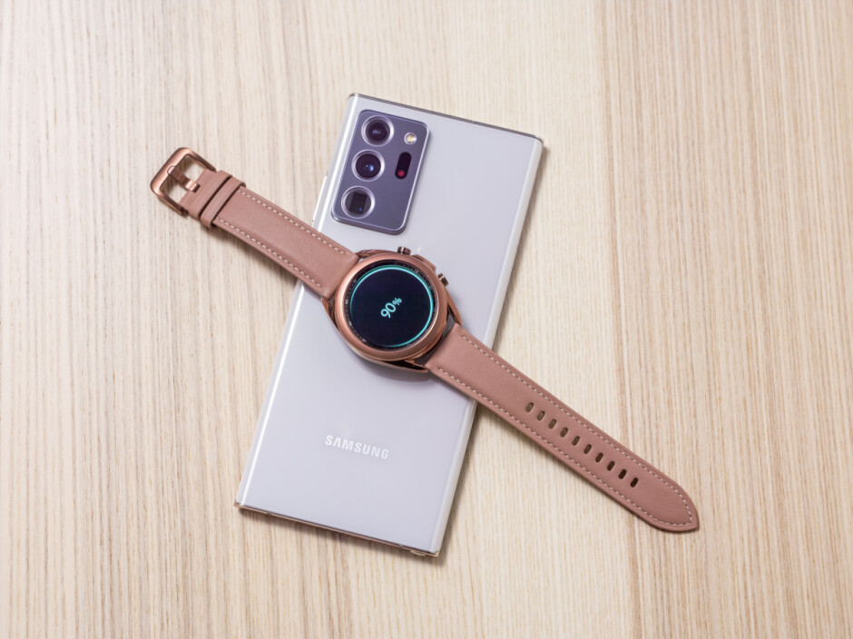 You can charge your Galaxy Watch 3 on the back of your new Galaxy Note 20