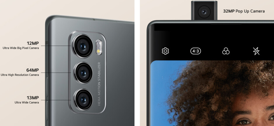 LG Wing camera specs and positioning