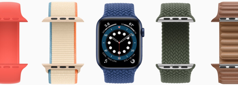 The new band design for the Apple Watch Series 6 is stretchy and easier to put on and take off