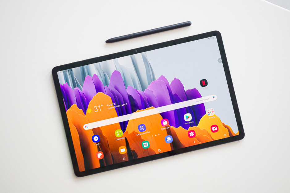 The Galaxy Tab S8 will be similar in design to it's predecessors, the Tab S7 and S7+ (shown here)