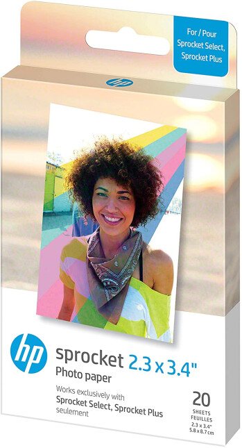 """HP Sprocket 2.3 x 3.4"""" Premium Zink Sticky Back Photo Paper (Compatible with HP Sprocket Select and Plus Printers)"""