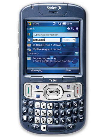 Palm Treo 800w specs