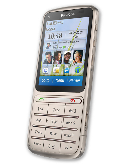 nokia c3 touch and type specs