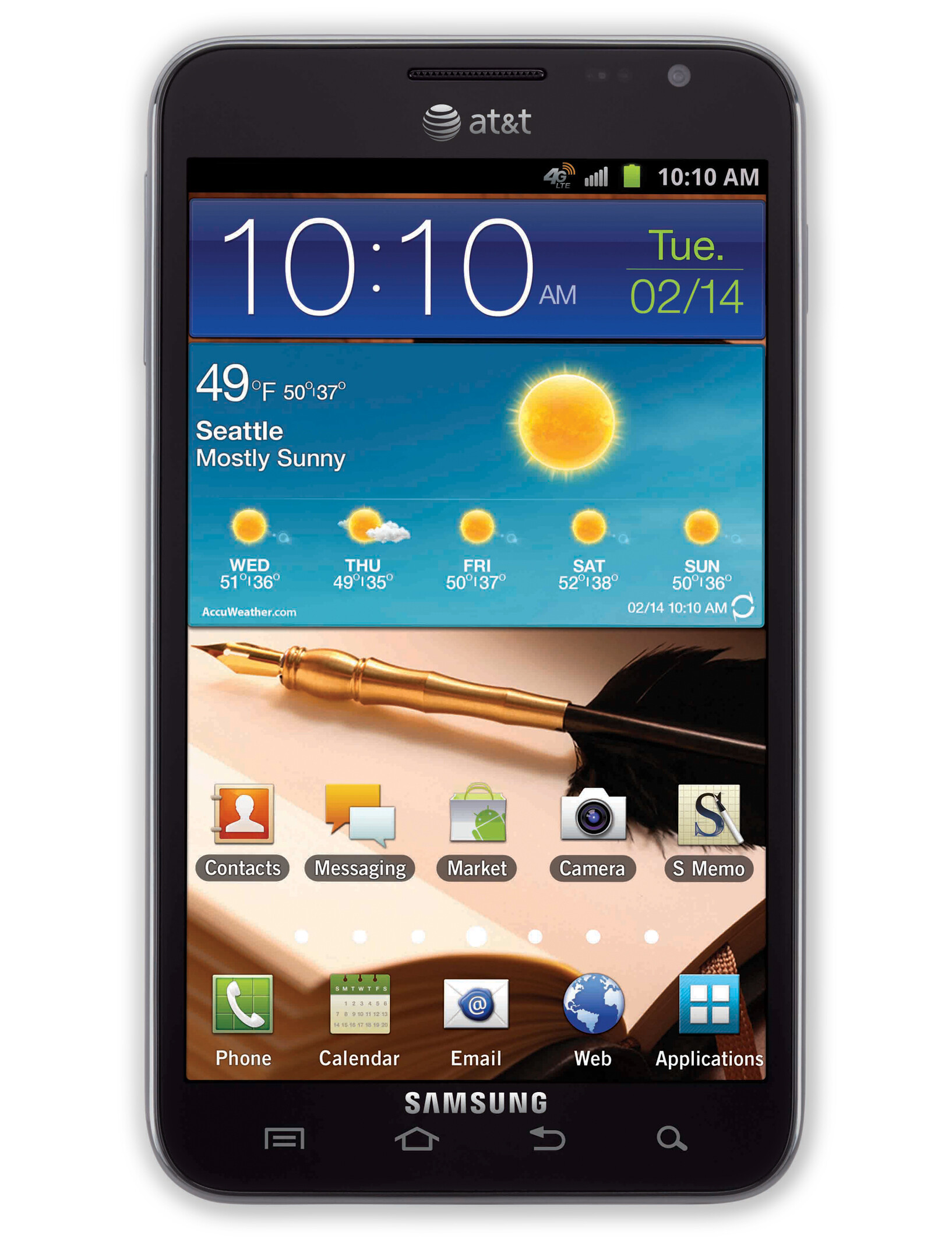 The Samsung Galaxy Note is an Android smartphone produced by Samsung moderngamethrones.gaed at IFA Berlin , it was first released in Germany in late October , with other countries following afterwards. The Galaxy Note was distinguished by its unusually large form factor—later referred to using the term