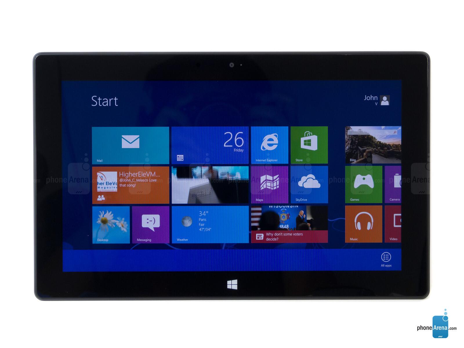 Microsoft Surface RT specs