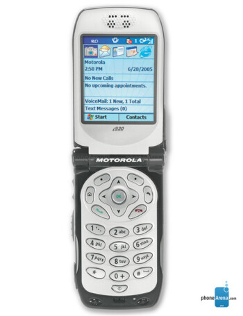 motorola i930 i920 specs rh phonearena com Operators Manual Instruction Manual Example