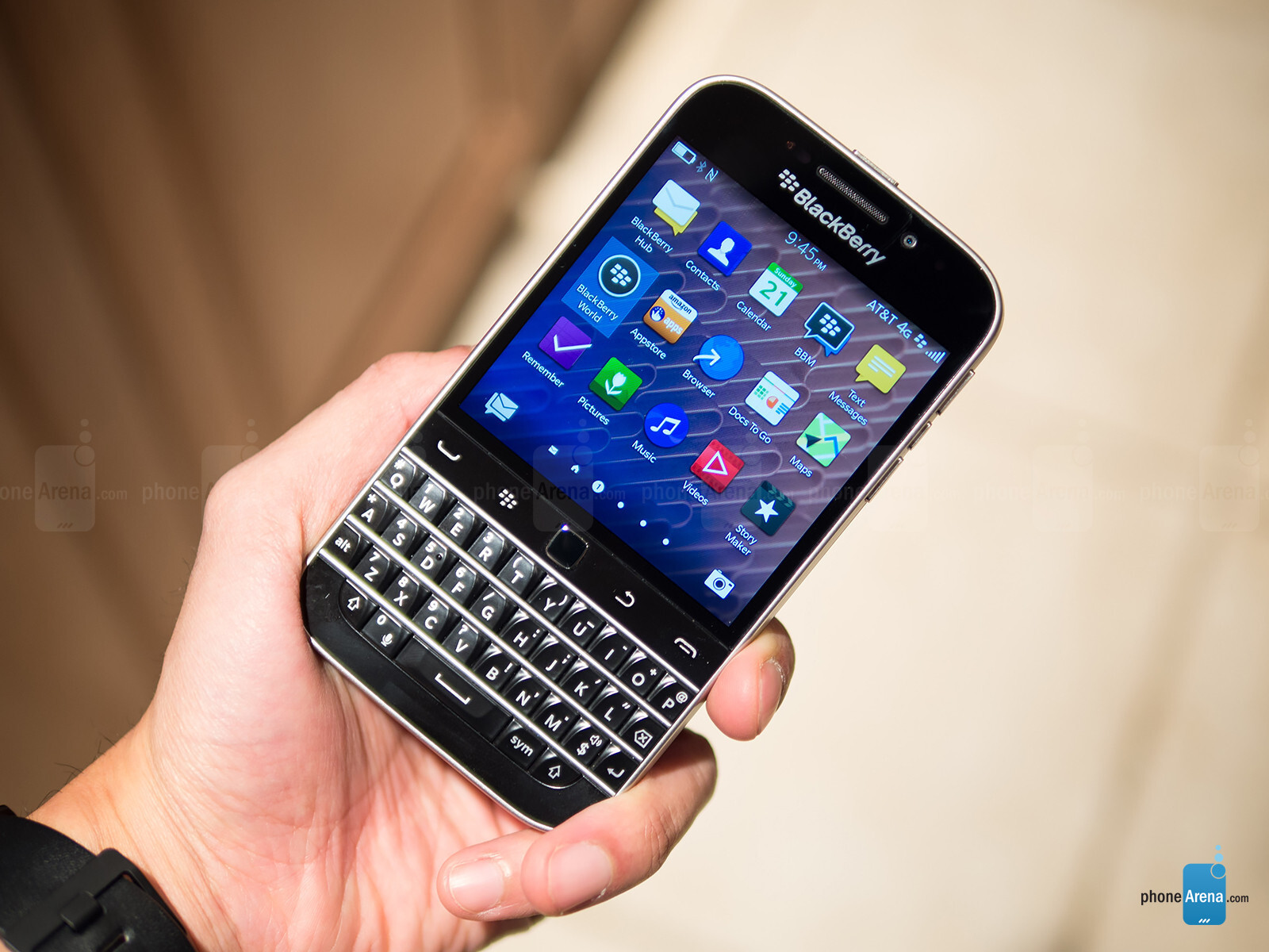 blackberry used an iphone to promote the classic on twitter