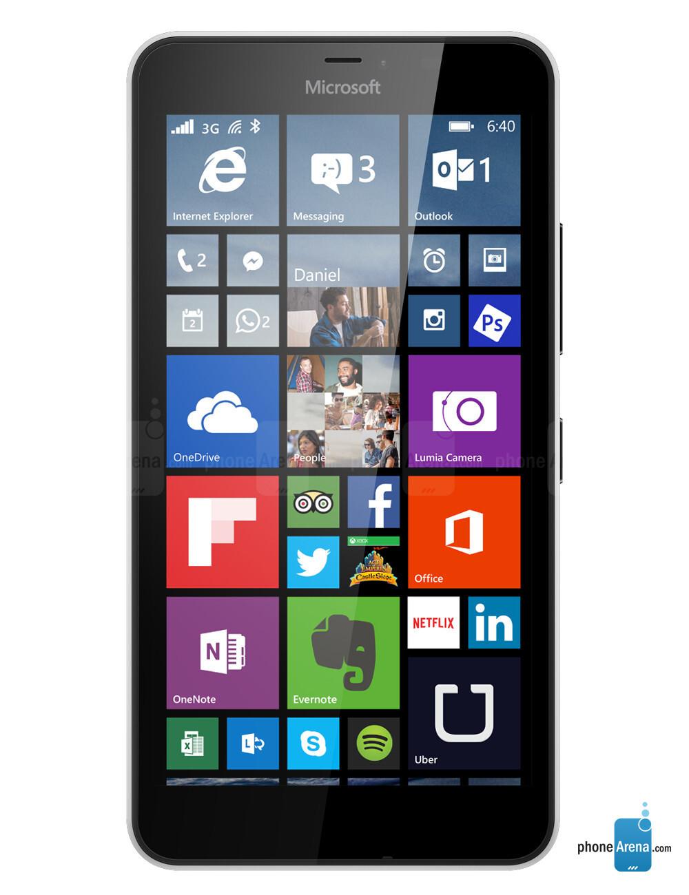 Facebook touch widget nokia lumia 640
