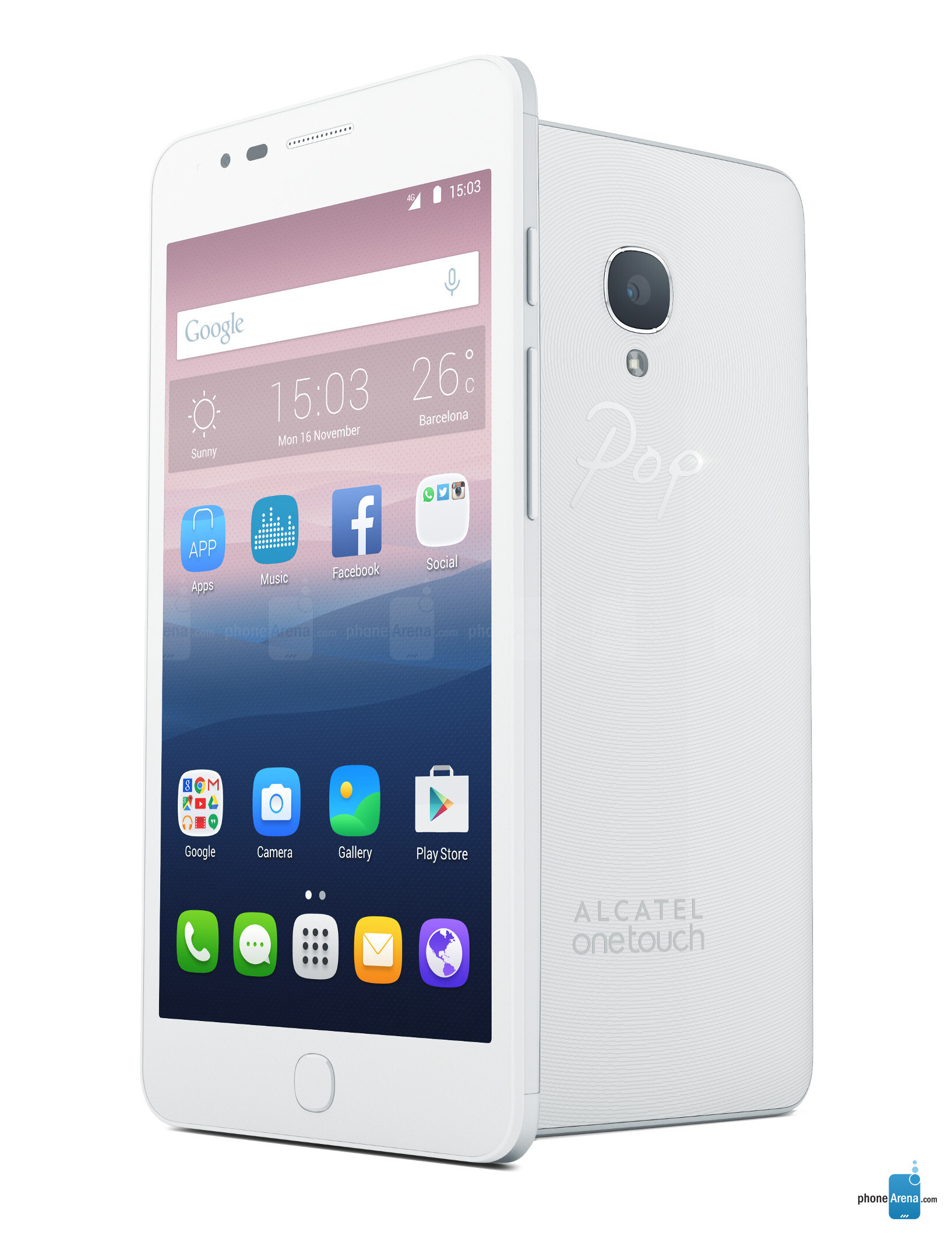 Alcatel Onetouch Pop Up Specs