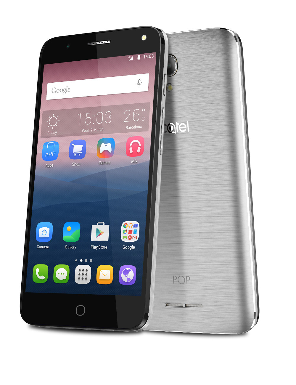 how to answer alcatel phone