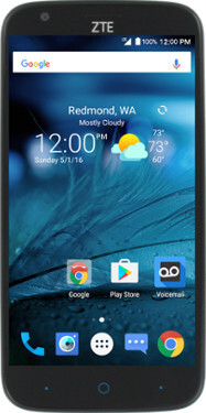 are zte warp screen size one does