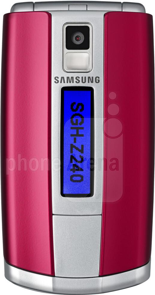 Samsung SGH-Z240 vs Samsung SGH-E490 - Visual phone size compare