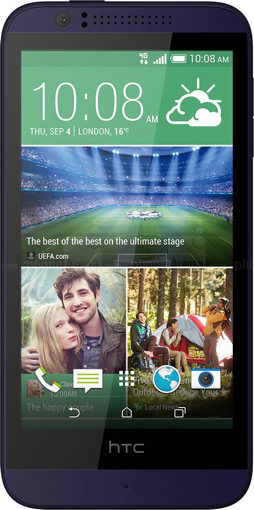 ZTE Grand X vs HTC Desire 510 - Visual phone size compare