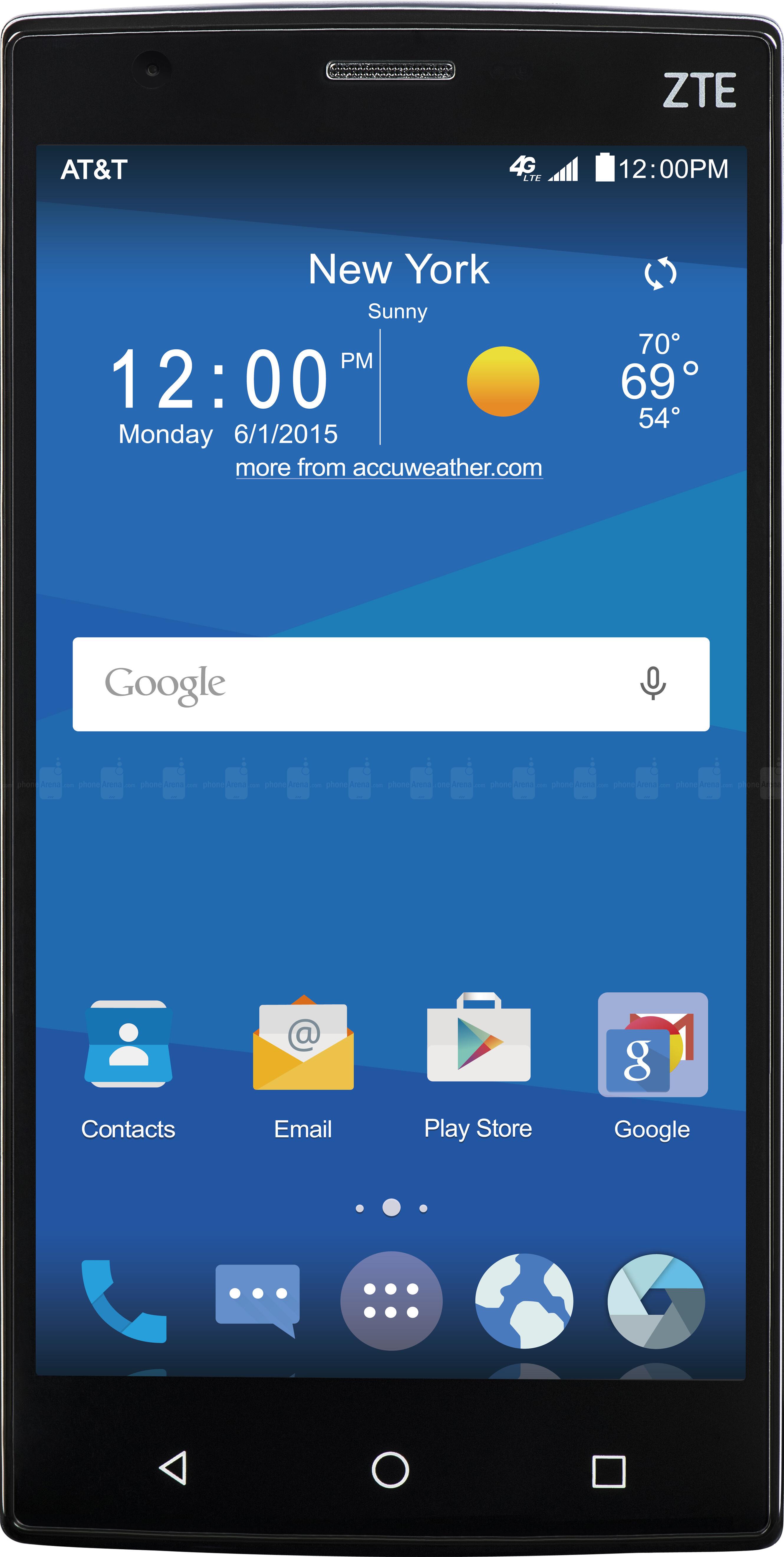 LG Phoenix 3 vs ZTE ZMAX 2 - Visual phone size compare