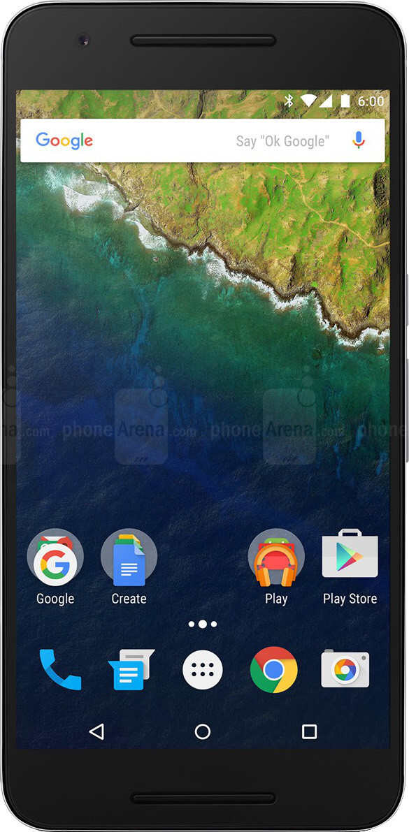Google Nexus 6P vs Apple iPhone 6s Plus - Visual phone size compare