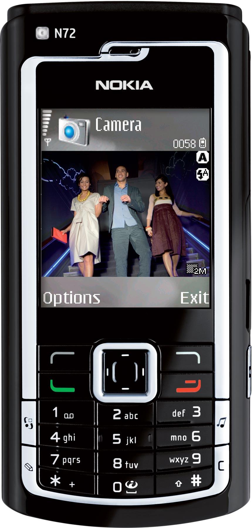 Nokia 7610 / 7610B vs Nokia N72 - Visual phone size compare