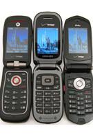 Casio G'zOne Rock, Motorola Barrage and Samsung Convoy: side by side