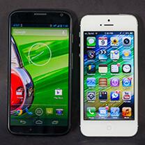Motorola Moto X vs Apple iPhone 5