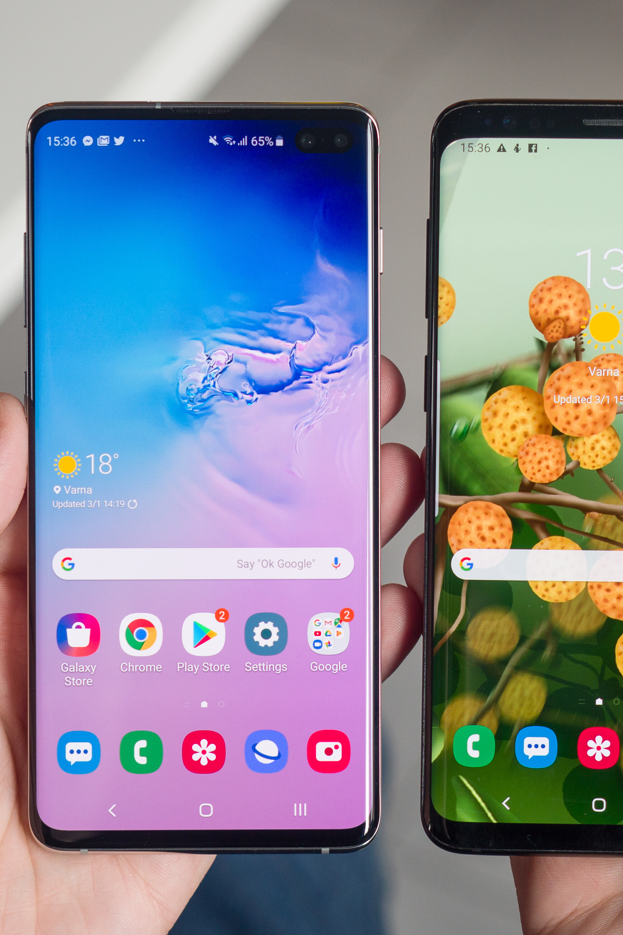 Samsung Galaxy S10 And Vs S9