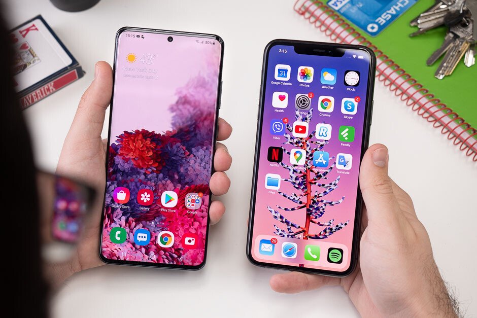Samsung Galaxy S20 Ultra Vs Apple Iphone 11 Pro Max Clash Of The Titans Phonearena