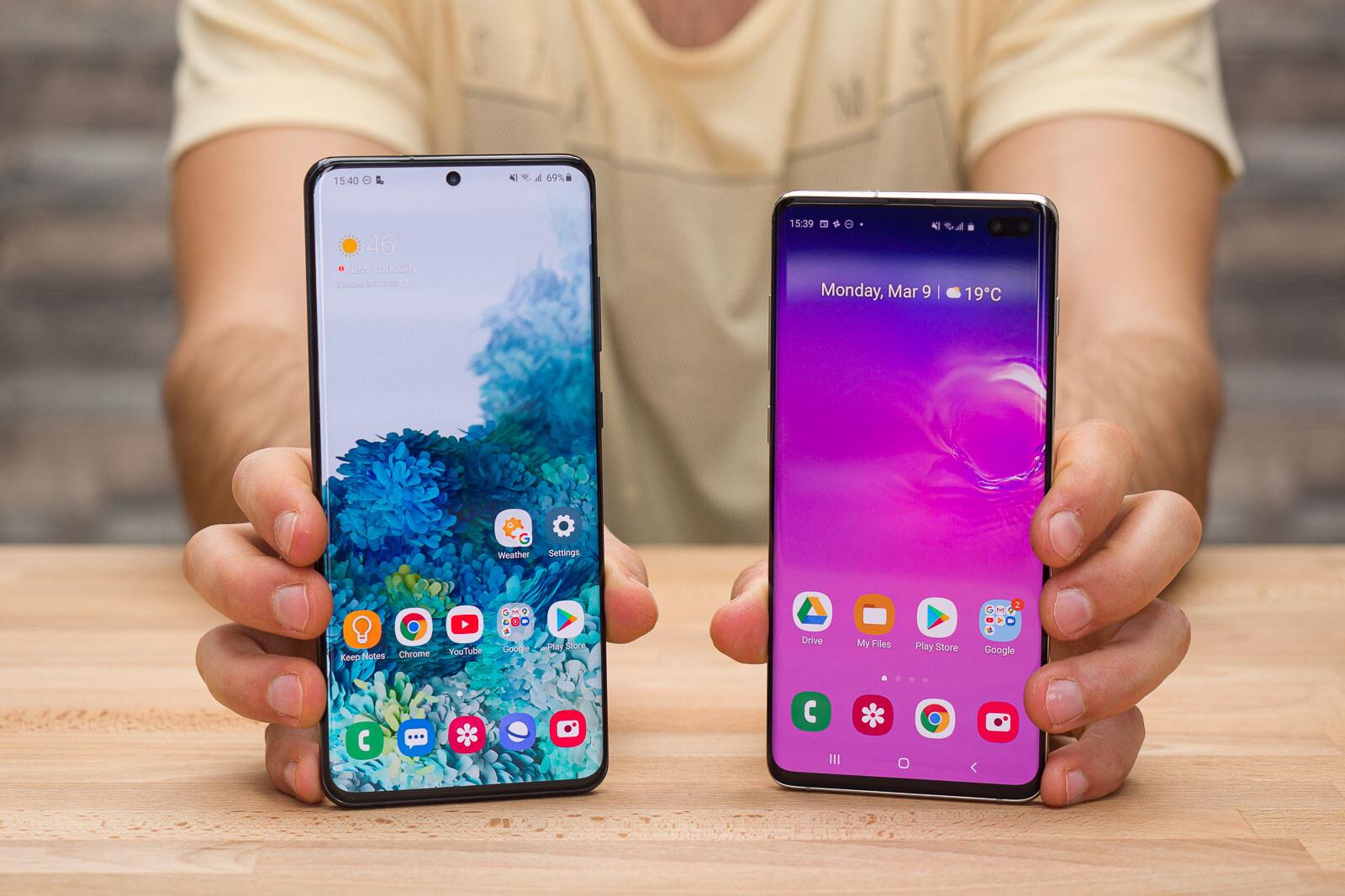 Samsung Galaxy S20 Ultra vs Galaxy S10 Plus