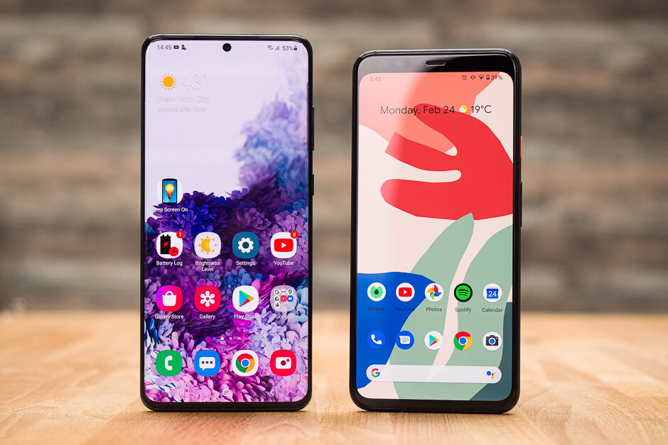 Samsung Galaxy S20 Ultra vs Google Pixel 4 XL