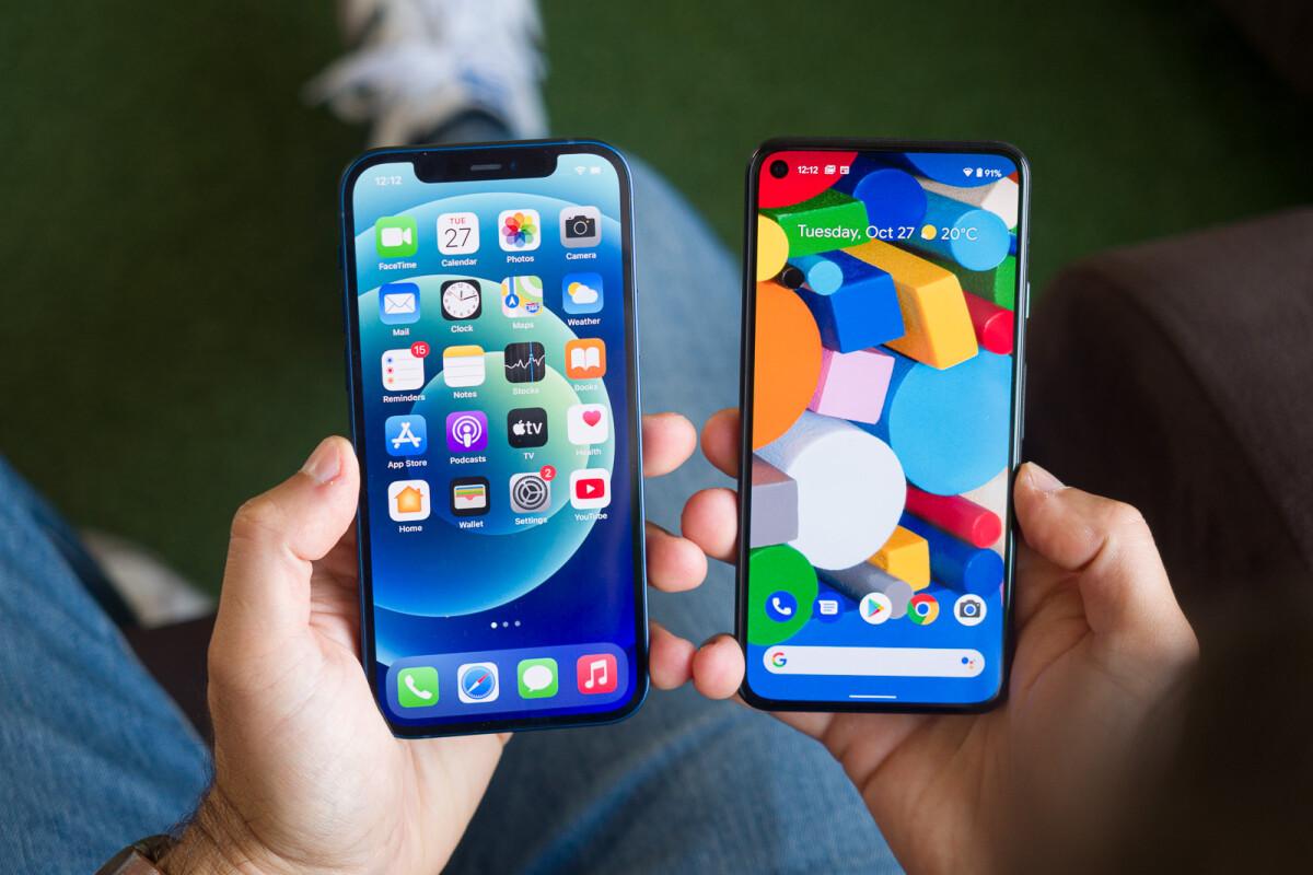 Apple Iphone 12 Vs Google Pixel 5 Phonearena
