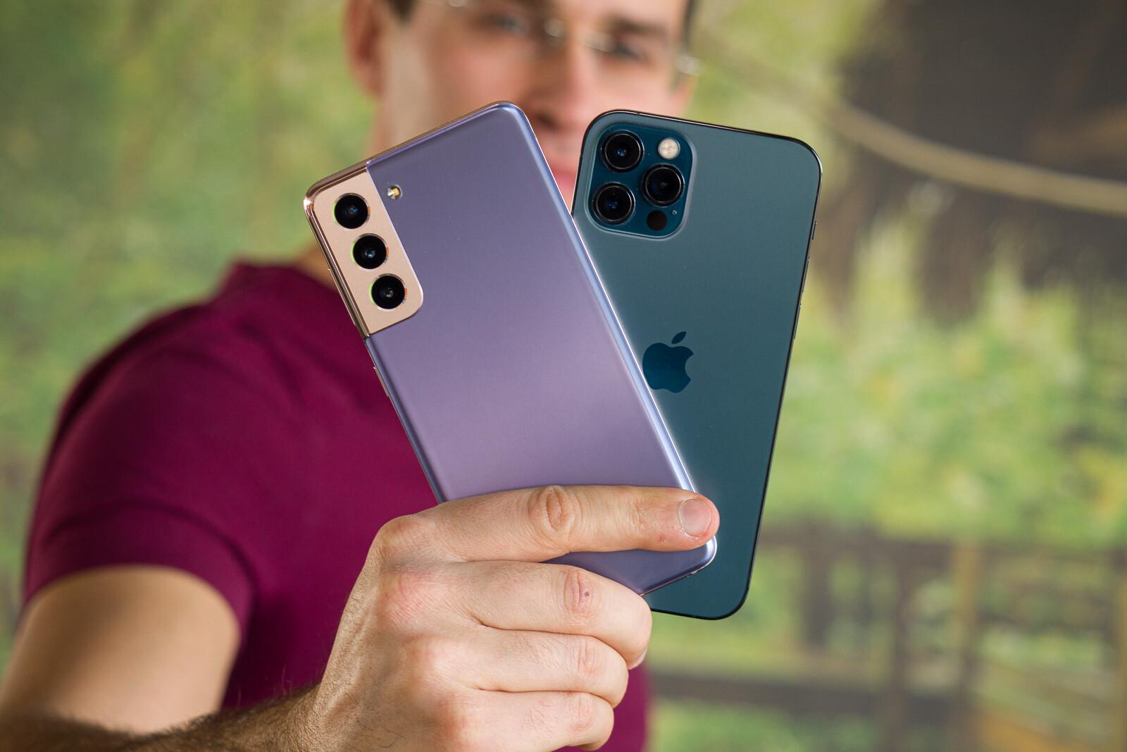 Samsung Galaxy S21 vs Apple iPhone 12 Pro