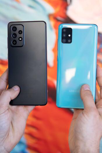 Samsung Galaxy A52 5G vs Galaxy A51 5G comparison