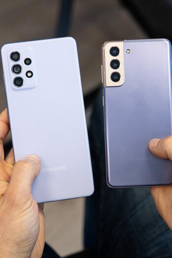 Samsung Galaxy A72 vs Galaxy S21 5G