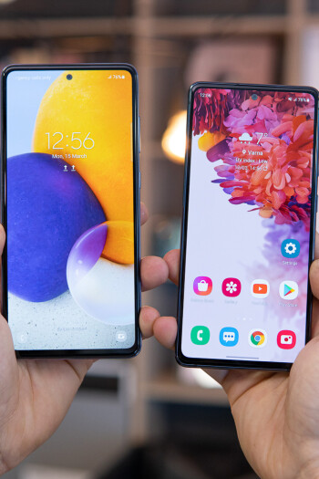 Samsung Galaxy A72 vs Galaxy S20 FE 5G, early value kings comparison