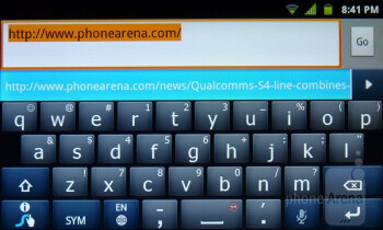 Virtual QWERTY keyboard - LG Marquee Review