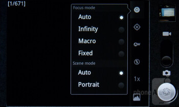 Camera interface - LG Marquee Review