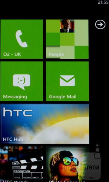 Homescreen - HTC Radar runs Windows Phone 7.5 - HTC Radar Review