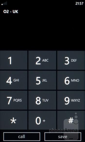 The dialer - HTC Radar Review