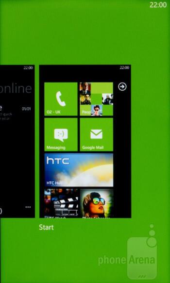 Multi-tasking pane - HTC Radar runs Windows Phone 7.5 - HTC Radar Review
