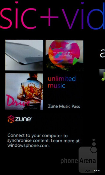 The Zune experience - HTC Radar Review