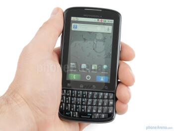 The Motorola PRO feels nicely in the palm of your hand - Motorola PRO Review