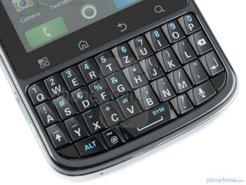 The full-QWERTY hardware keyboard - Motorola PRO Review