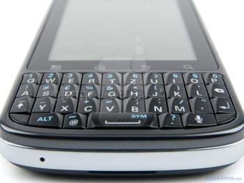 The full-QWERTY hardware keyboard - Motorola PRO Review