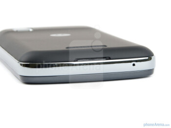 Bottom edge - The edges of the Motorola PRO are surrounded by a chromed metal rim - Motorola PRO Review