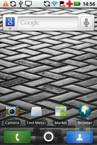 The interface of the Motorola PRO - Motorola PRO Review