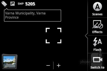 Camera interface - Motorola PRO Review