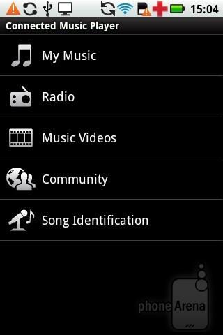 Music player - Motorola PRO Review