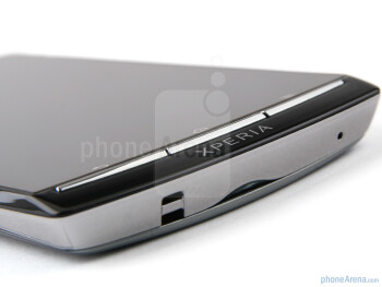 The phone sports the previous Xperia line design with the thin buttons underneath the display - Sony Ericsson Xperia arc S Review
