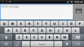 The Timescape virtual keyboard - Sony Ericsson Xperia arc S Review